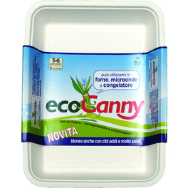 ECO CANNY COMPOSTABLE TRAY 5/6 PORTIONS x2PCS