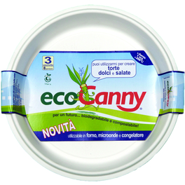 ECO CANNY COMPOSTABLE TRAY ROUND TRAY 8 PORTIONS